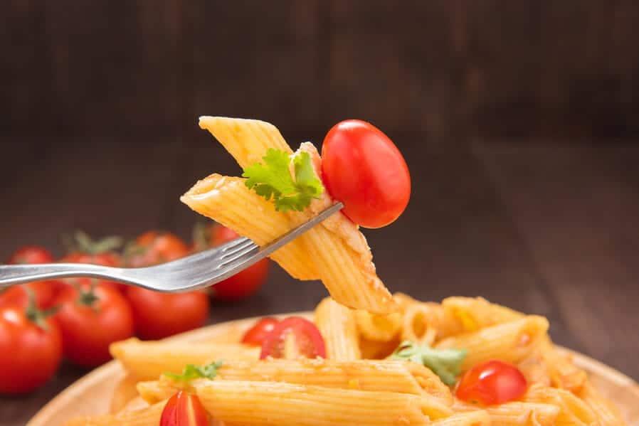 Pasta tradiciional en despedidas temptation